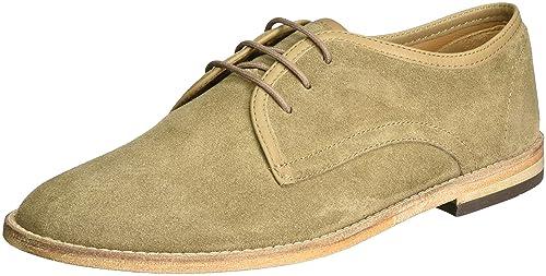 Hayane Suede, Zapatos de Cordones Oxford para Hombre, Beige, 40.5 EU Hudson