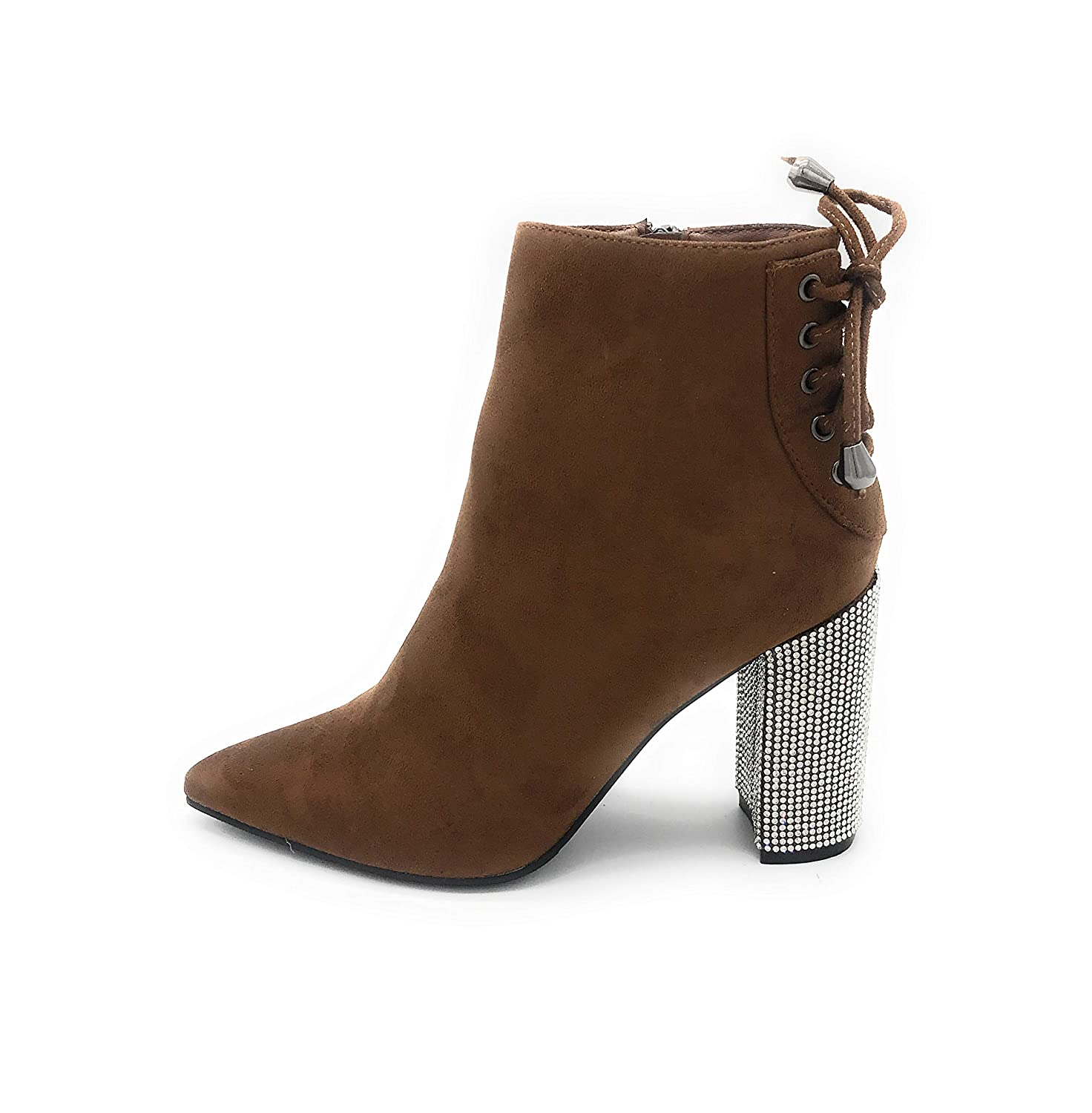 01camel J Mark EASY21 Women Fashion Ankle Rhinestone Boots Casual Short Bootie shoes