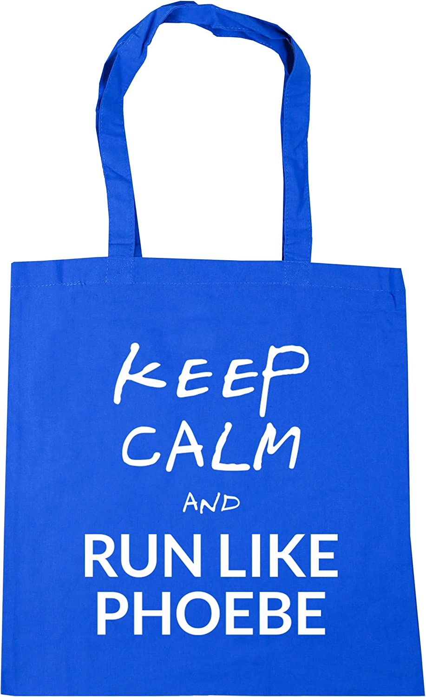 HippoWarehouse Keep calm and run like phoebe Tote Shopping Gym Beach Bag 42cm x38cm 10 litres