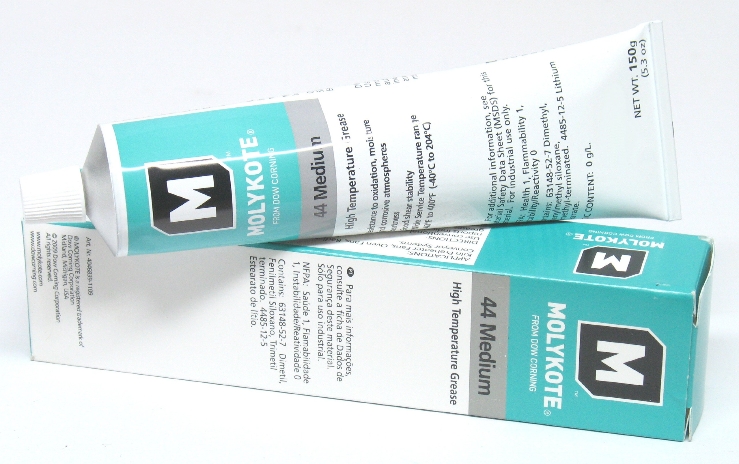 Dow Corning Molykote 44 Medium Grease Lubricant 5.3oz 150g Tube by Dow Corning 44 High Temperature Grease, Medium