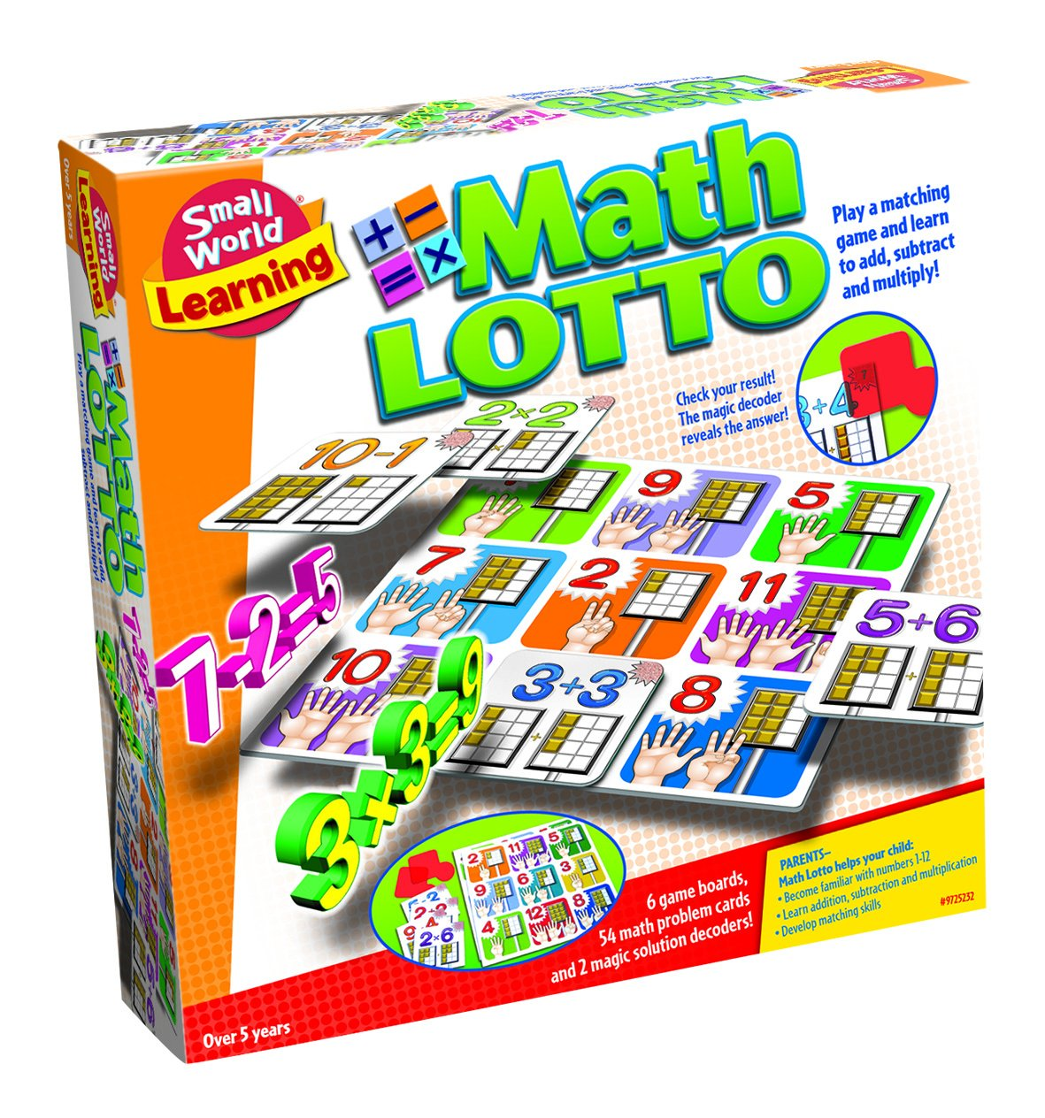 Small World Toys Learning Math Lotto Matching Game