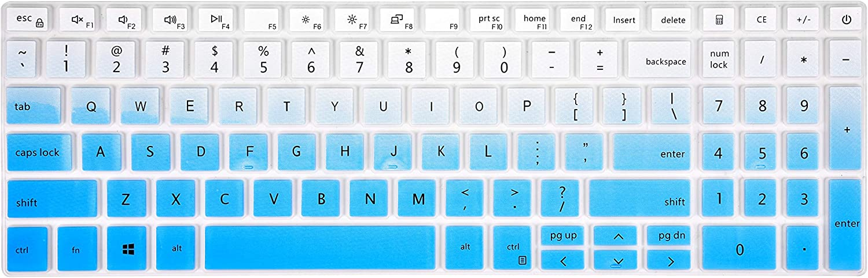 Keyboard Cover for Dell inspiron 15 5501 5502 5505 5508 5509 5584 5593 5594 5598, inspiron 15 7501 7506 i7590 7591, inspiron 17 7706 7791, Latitude 3500 3510 Laptop - Gradual Blue
