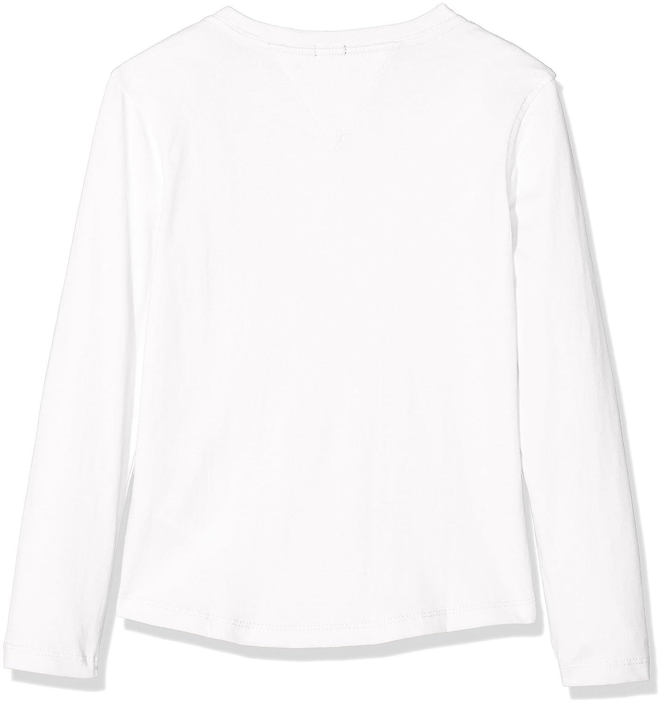 Tommy Hilfiger Essential Big Logo tee L//S Camiseta para Ni/ños