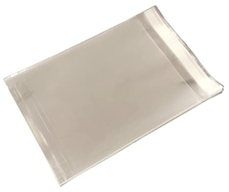 """Clear Cellophane Peel /& Seal Bags 500 7/"""" x 5/"""" Cello Bags for Greeting Cards"""