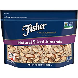 FISHER Chef's Naturals Sliced Almonds, No Preservatives, Non-GMO, 16 oz