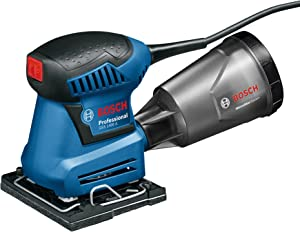Bosch GSS 1400 A Professional Orbital Sander Fatigue free & robust clamping design for long hours sanding job 180W (220v Charger Europe type C plug)