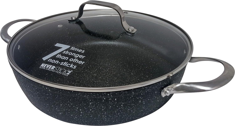 Eaziglide Neverstick2 28cm Shallow Casserole Pan
