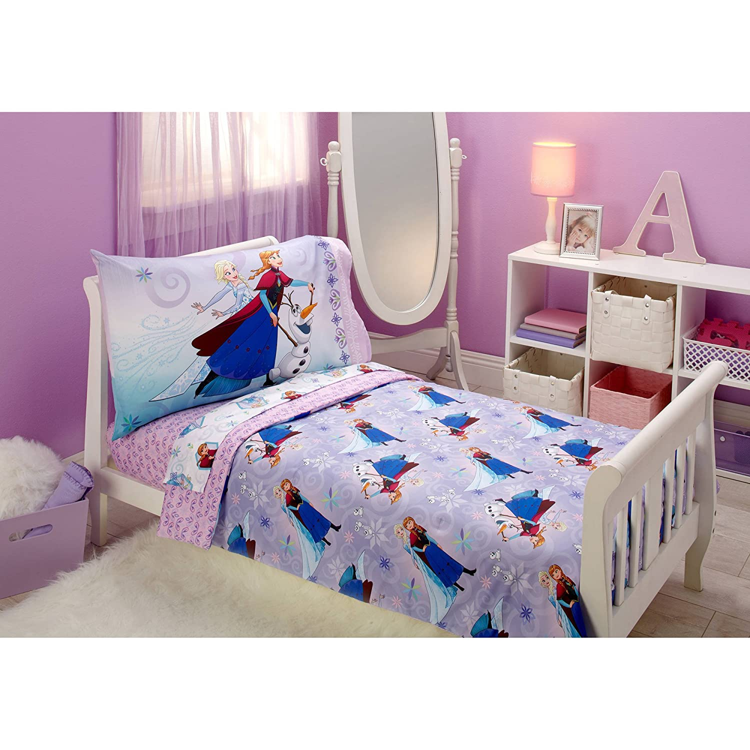 Disney Frozen Unleash the Magic 4pc Toddler Bedding Set - Elsa - Anna - Olaf Crown crafts company