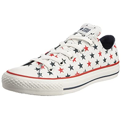 f99fca467e1787 Converse Unisex Adult Chuck Taylor All Star Print Stats Ox White Denim Red  Trainer 113979 6.5 UK  Amazon.co.uk  Shoes   Bags