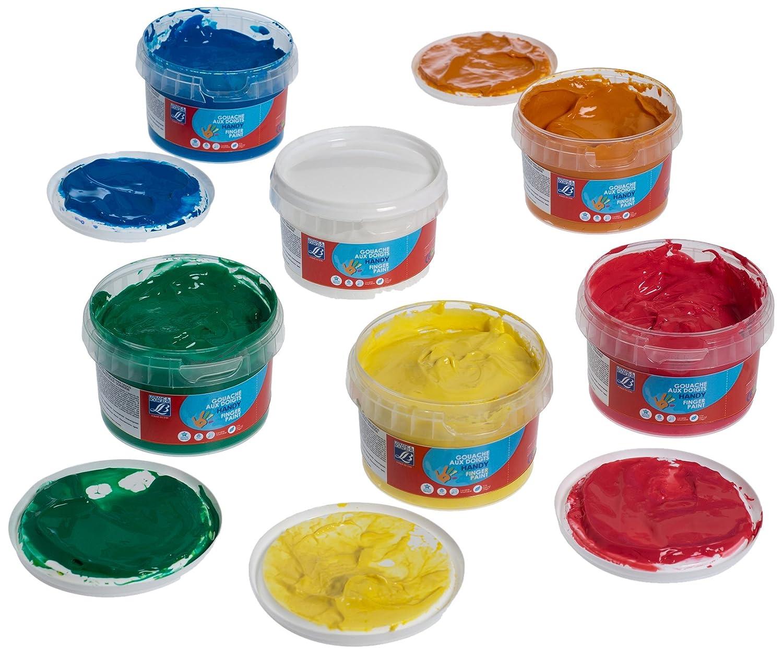 Lefranc  Bourgeois Pack de gouache para pintar con los dedos tubos