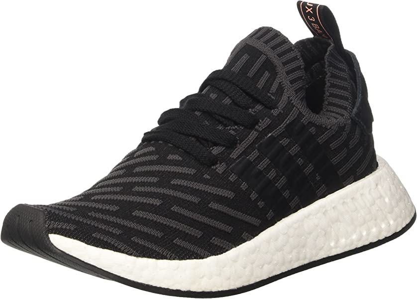 premium selection ac728 acee2 Amazon.com | Womens NMD R2 Prime Knit BA7239 Black-Grey ...