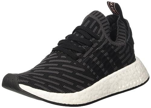 buy online 5f891 ce8ed adidas NMD r2 Primeknit, Zapatilla de Deporte Baja del Cuello para Mujer   Amazon.es  Zapatos y complementos