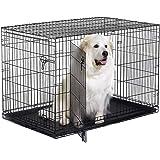 New World Pet Products Folding Metal Dog Crate; Single Door & Double Door Dog Crates