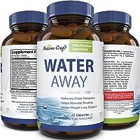 Water Away Diuretic Supplement with Dandelion Leaf – Bloat Relief Pills Weight Loss...