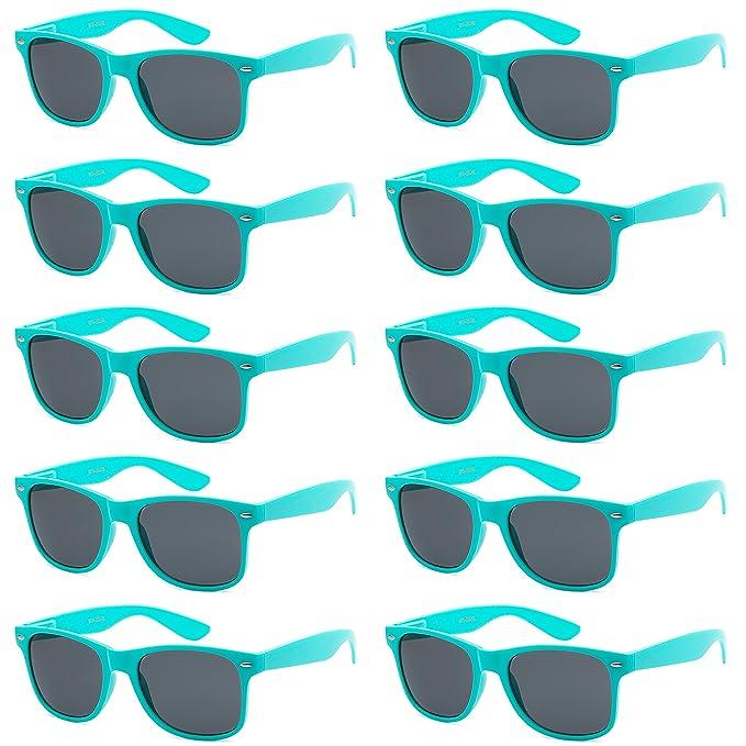 80's Lot Style Unisex 10 Wholesale Promotional Retro Pack Sunglasses Bulk qAj543RL
