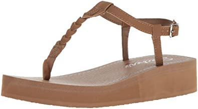 Skechers Cali Women's Vinyasa White Sands Wedge Sandal,Brown,6 ...