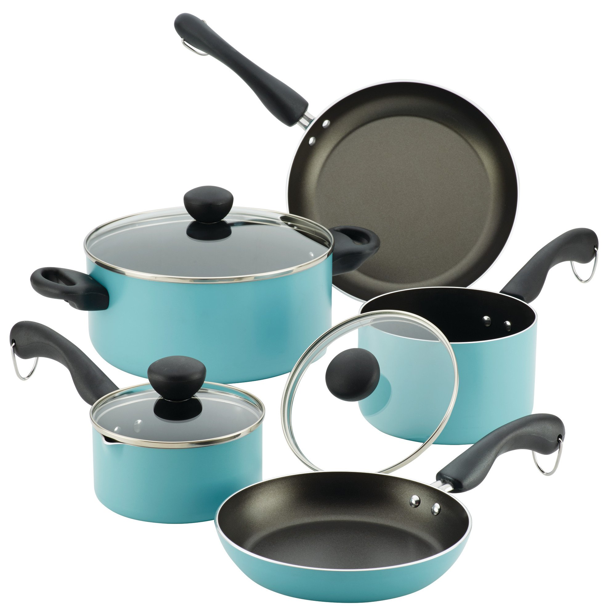 Farberware Easy Clean 12-Piece Set, Aqua