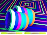 GreyParrot Tape UV Blacklight Reactive, (12 Pack, 6 Colors, 66ft per Color), Fluorescent Cloth Tape, 2 Pack Highlighter Pens