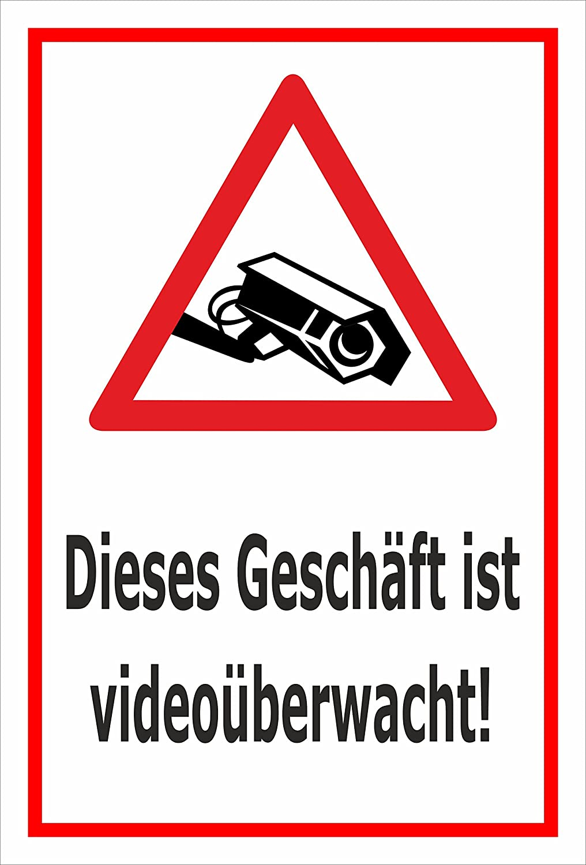 Video Uberwachung Aufkleber Geschaft Ist Videouberwacht 15x10cm