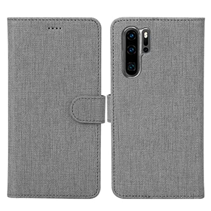 Amazon.com: P30 Pro Funda Flip Cover TPU&PU Cuero Case con ...