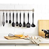 Mirviory HCL2201 10pc Kitchen Utensil Set, Silicone, Black