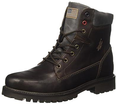 Shan, Desert Boots Homme, Marron (Dark Brown Dkbr), 44 EUU.S.Polo Association