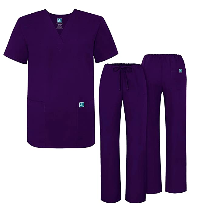 Adar Uniforms Uniforme Médico Unisex con Casaca y Pantalones - 701 Color PRP | Talla: