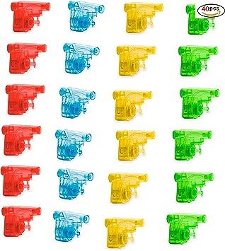 MIRVEN Pack DE 40 Mini Pistolas de Agua - Colores Variados Rellenos de Bolsas de Fiesta y Detalles para niños: Amazon.es: Juguetes y juegos