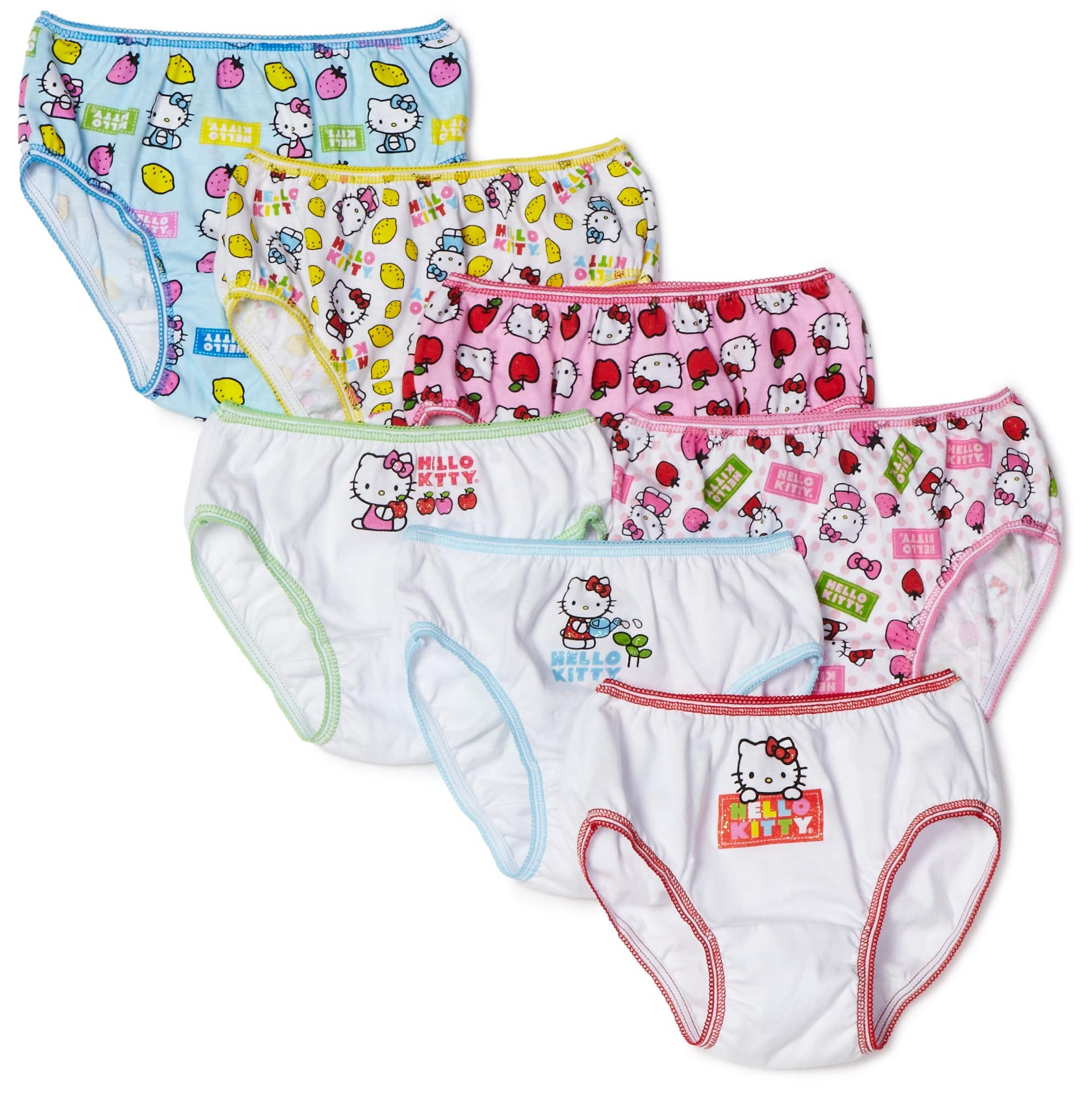 Handcraft Little Girls'  Hello Kitty  Underwear (Pack of 7), Multi, 4