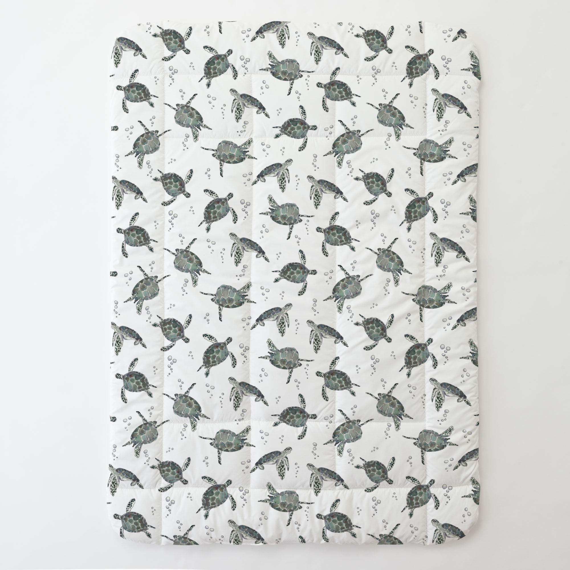 Carousel Designs Sea Turtles Toddler Bed Comforter