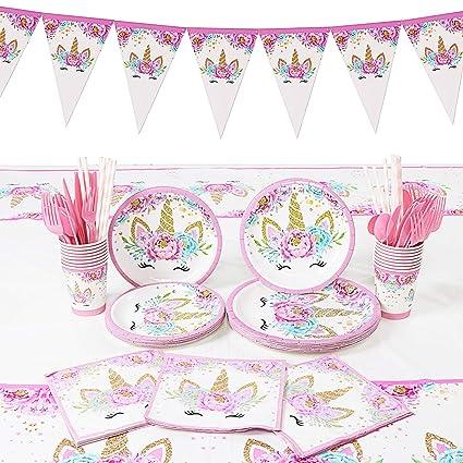 130 Piezas Unicornio Decoración de fiesta - Cumpleaños ...