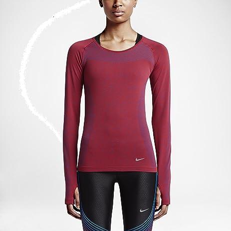 Women's Top - Nike Dri-FIT Knit - Deep Royal Blue/University Red