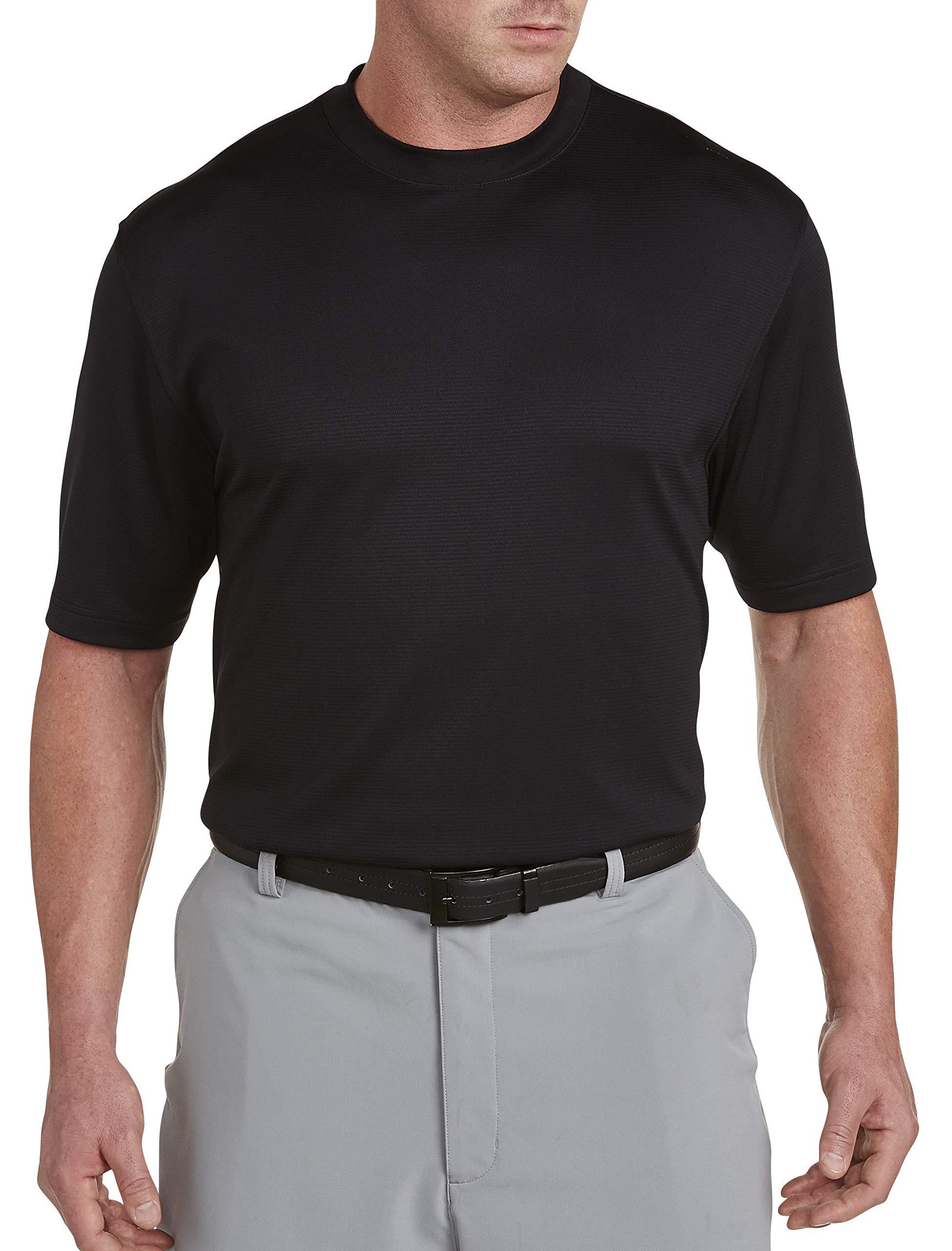 Reebok Big & Tall Golf Play Dry Solid Mockneck T-Shirt Black