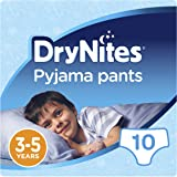 Huggies DryNites Pyjama Pants for Boys, Age 3-5 - 10 Pants Total