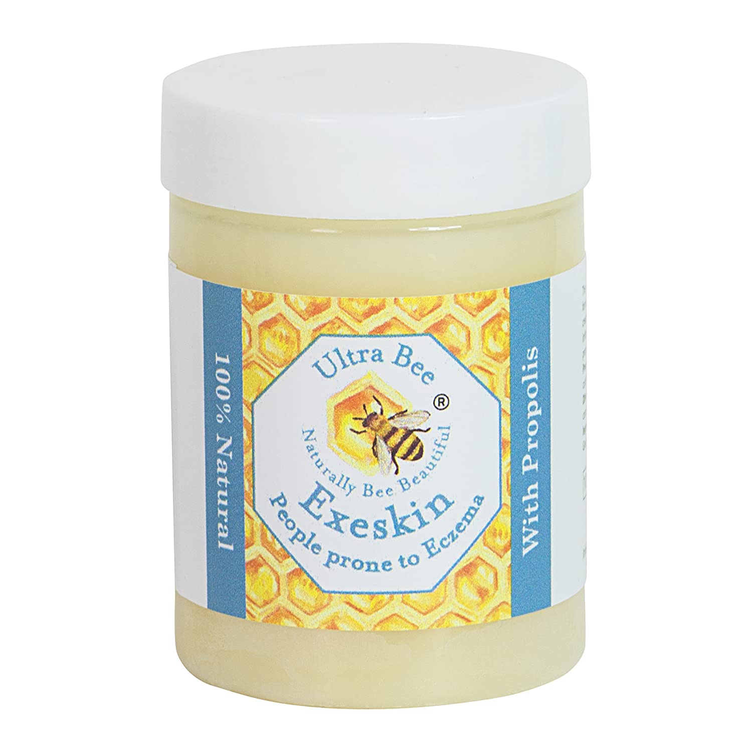 100% Natural Exeskin Dry Itchy Irritable Skin Balm suitable for People Prone to Eczema, Psoriasis,Dermatitis. Made with Beehive and Plant Products 100ml Ultra Bee