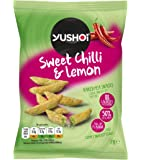 Yushoi Baked Sweet Chilli & Lemon Pea Snacks, 21g, Pack of 24