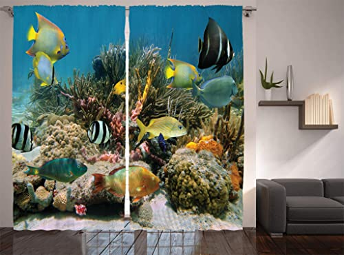 Ambesonne Ocean Curtains