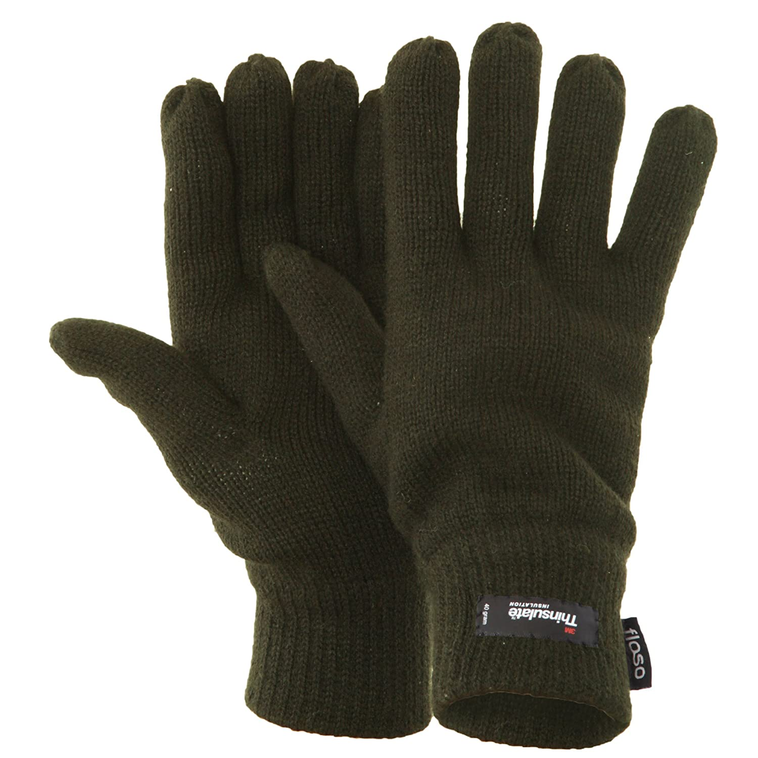 FLOSO® Mens Thermal Thinsulate Knitted Winter Gloves (3M 40g) Universal Textiles UTGL184_2