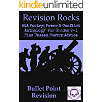 Bullet Point Revision: New GCSE English Literature AQA Poetry Guide: Power & Conflict Anthology for Grades 9-1. Plus Unseen Poetry Advice.