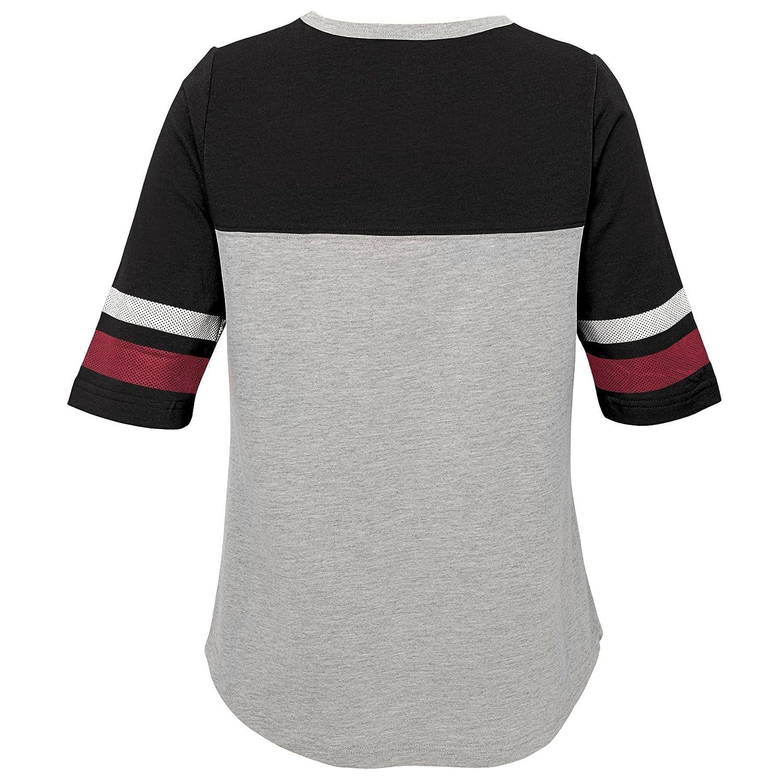 Arizona Cardinals Outerstuff NFL Girls 7-16Fan-Tastic Short Sleeve Tee-Heather Grey-XL 16
