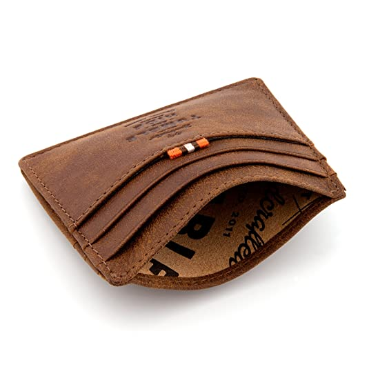 3f78f7a31764 Tumble and Hide Yukon Leather Slim Credit Card Wallet (Brown):  Amazon.co.uk: Shoes & Bags