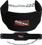 RDX Dipgürtel mit Kette Gewichtsgürtel Klimmzüge Trainingsgürtel Neopren Bodybuilding Fitness Krafttraining Weightlifting Dip Belt (MEHRWEG)