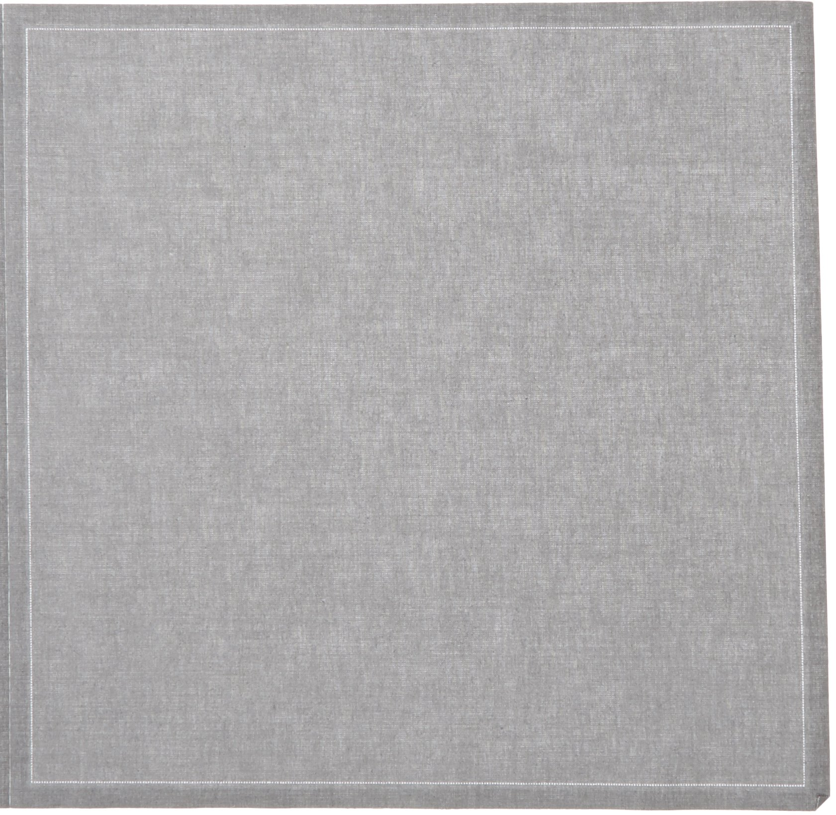 MYdrap SA32/302-7 Cotton Dinner Napkin, 12.6'' Length x 12.6'' Width, Grey (10 Rolls of 12)