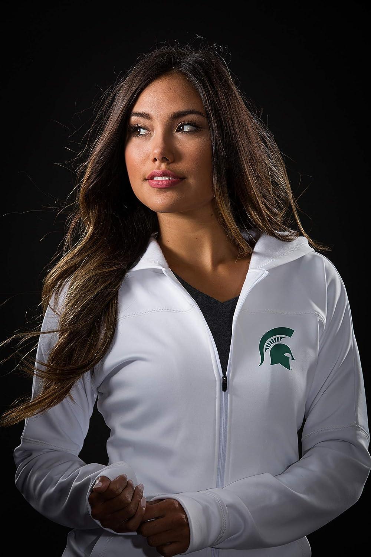 Top of the World NCAA Womens VIP Full Zip White Hoodie