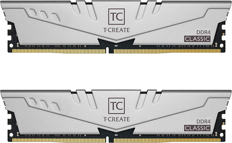 TEAMGROUP T-Create Classic 10L DDR4 64GB Kit (2 x 32GB) 3200MHz (PC4 25600) CL22 Desktop Memory Module Ram - TTCCD464G3200HC22DC01