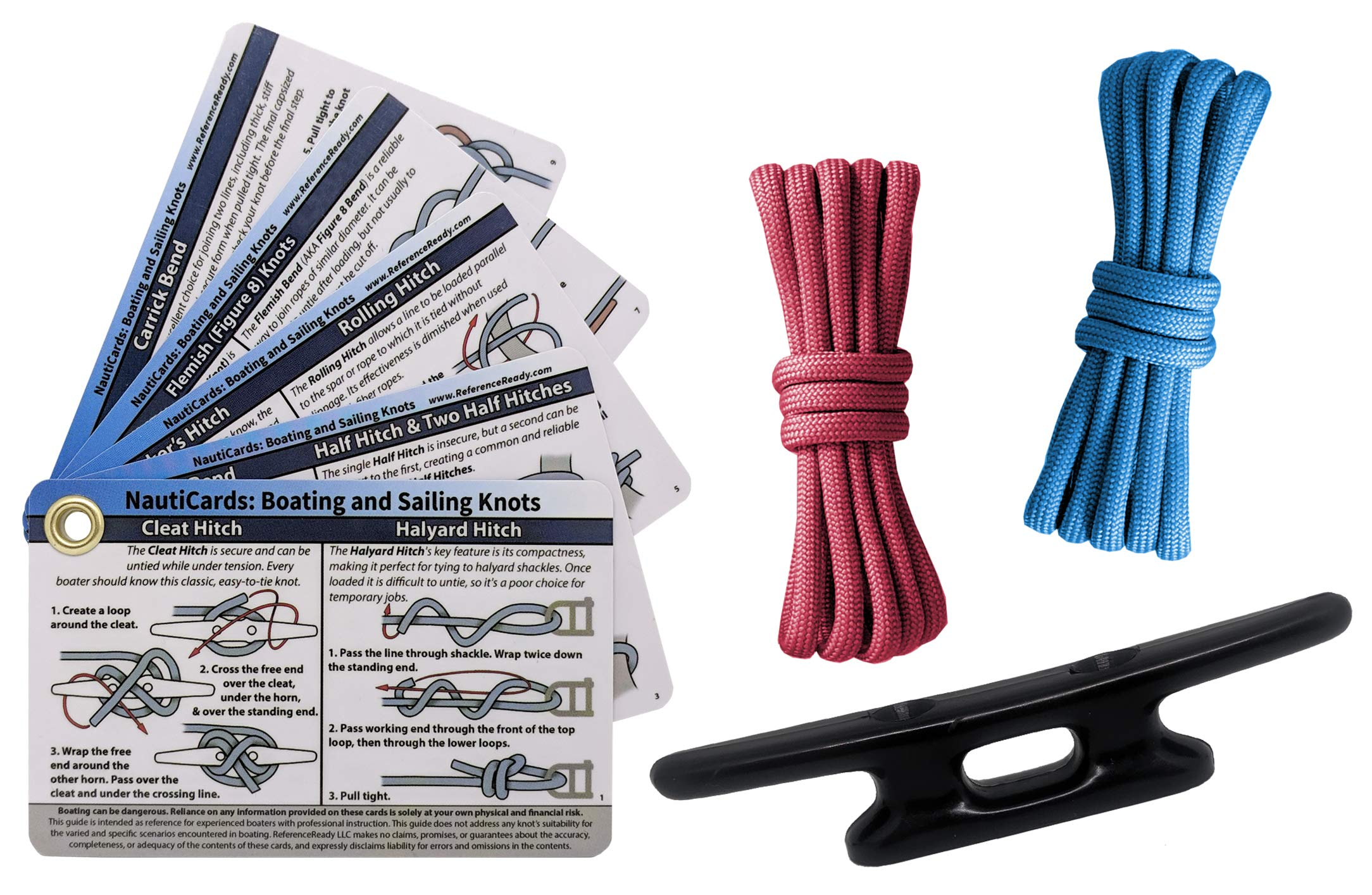 ReferenceReady Nautical Knot Tying Kit for Boaters and Sailors by ReferenceReady