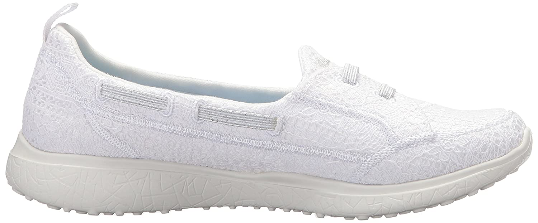Skechers Women's Microsburst Gentle B(M) Gauze Sneaker B0748D58CY 6 B(M) Gentle US|White 00e866