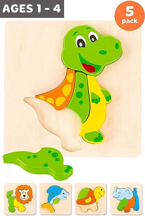 Amazon.com: ToyPAL - Rompecabezas de madera para niños de 2 ...