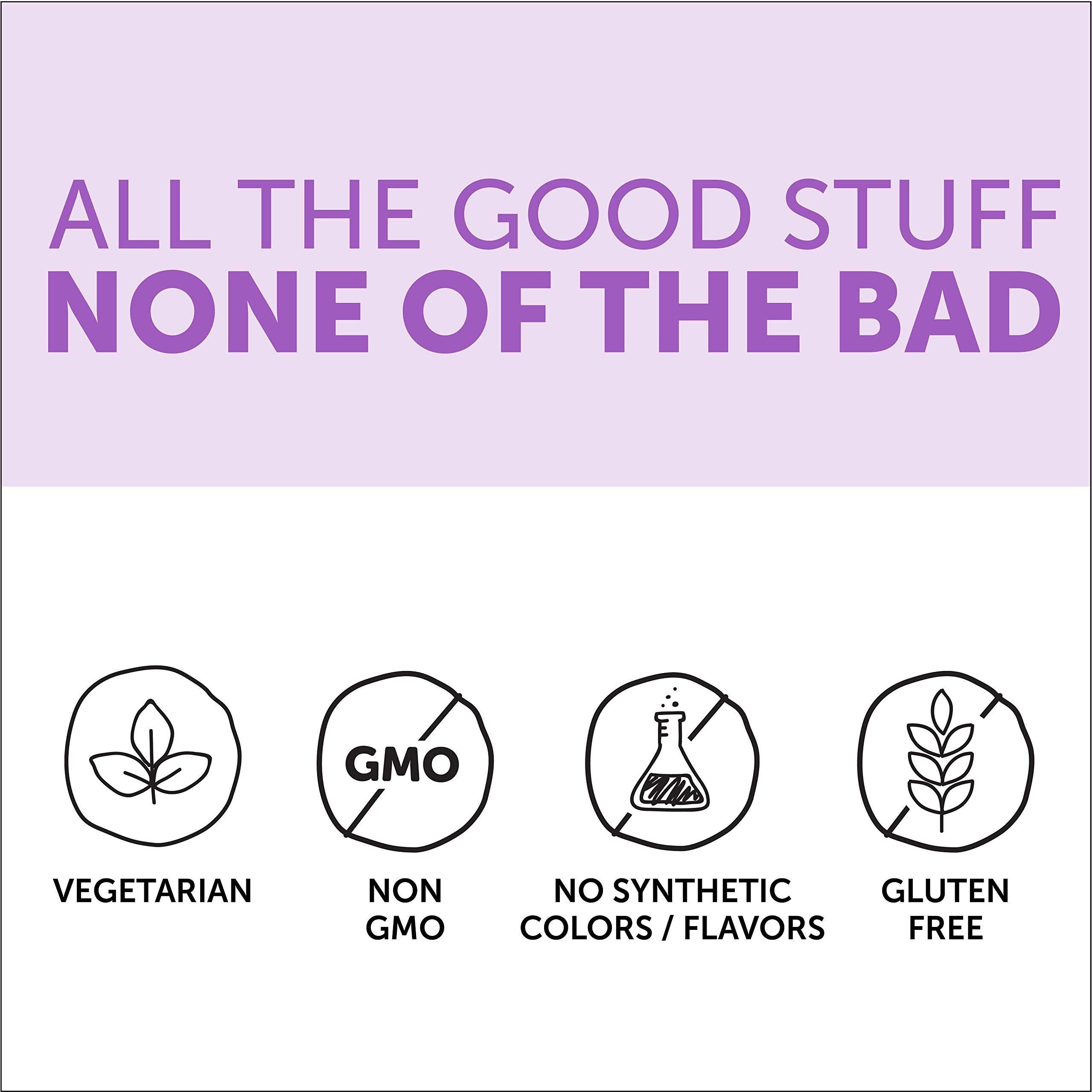 SmartyPants Vegetarian Organic Kids Daily Gummy Vitamins: Multivitamin, Gluten Free, Non-GMO, Omega-3, Probiotic, Vitamin D3, Methylcobalamin B12, Zinc; 120 Count (30 Day Supply) by SmartyPants Vitamins (Image #8)
