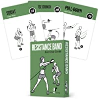 Resistance Band Tube Exercise Cards - Extra Large with 6 Effective Home Workouts : Large, Durable & Waterproof with…